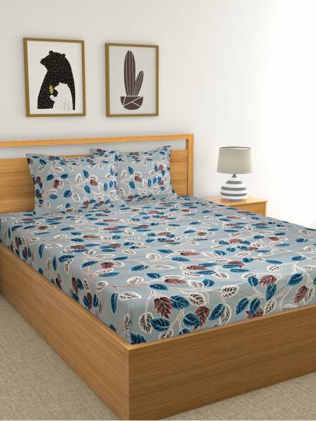 Country Home 210 TC Cotton Double Floral Bedsheet