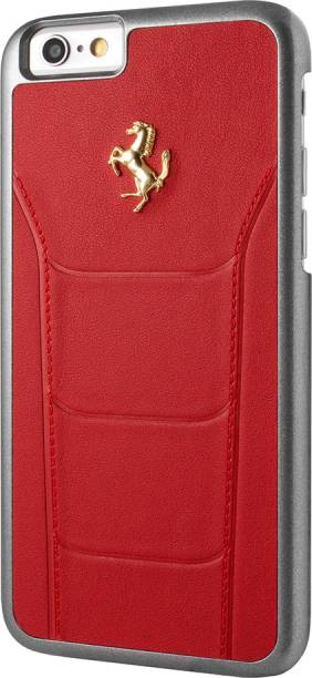 Ferrari Back Cover for Apple iPhone 7 Official 599 GTB Logo Double Stitched PU Leather Case