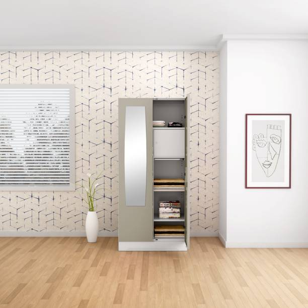 Godrej Interio Slimline 2 Door With Locker and Drawer Metal Almirah