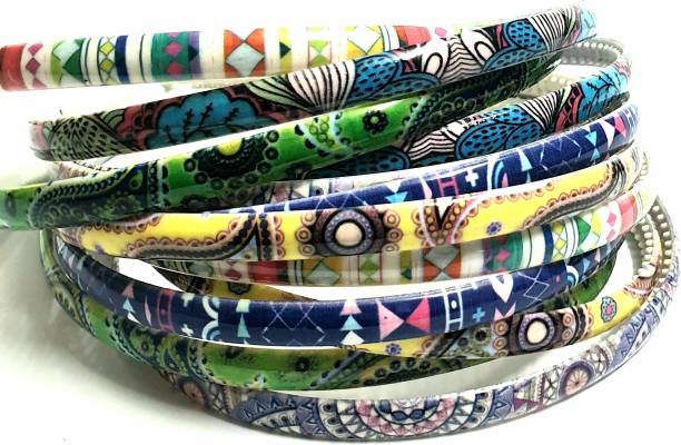 ANNA CREATIONS Girls Set Of 12 Multi Color Plastic Hair Bands Hair Band
