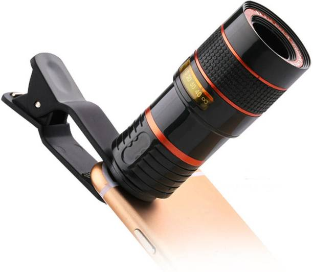 LENSZOOM 8X Zoom Telescope DSLR Blur Background Effect Mobile Telescope Lens kit for All Mobile Camera and Android & iOS Devices Mi-6 Mobile Phone Lens for TikTok & Youtubers Mobile Phone Lens