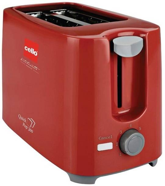 cello 300 700 W Pop Up Toaster (Red) 700 W Pop Up Toaster