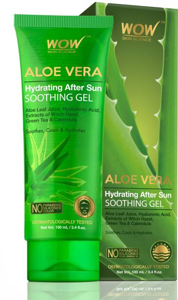 WOW SKIN SCIENCE Aloe Vera Hydrating After Sun Soothing Gel - 100 mL - Tube