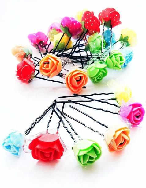 foreveryoung ROSE FLOWER JUDA PIN Hair Pin