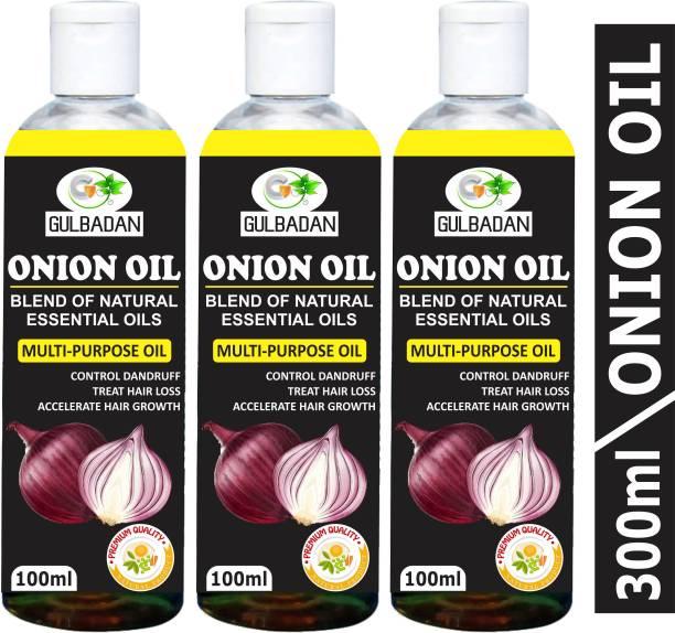 GULBADAN Organics ONION Herbal Hair oil- Blend of 14 Natural Oils Hair Oil