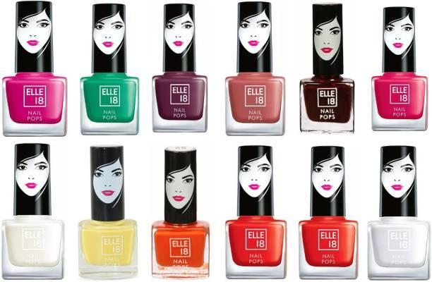 ELLE 18 Nail Pops Red, Black, Yellow, White, Brown, Silver, Maroon, Blue, Orange, Lite Green, Skyblue