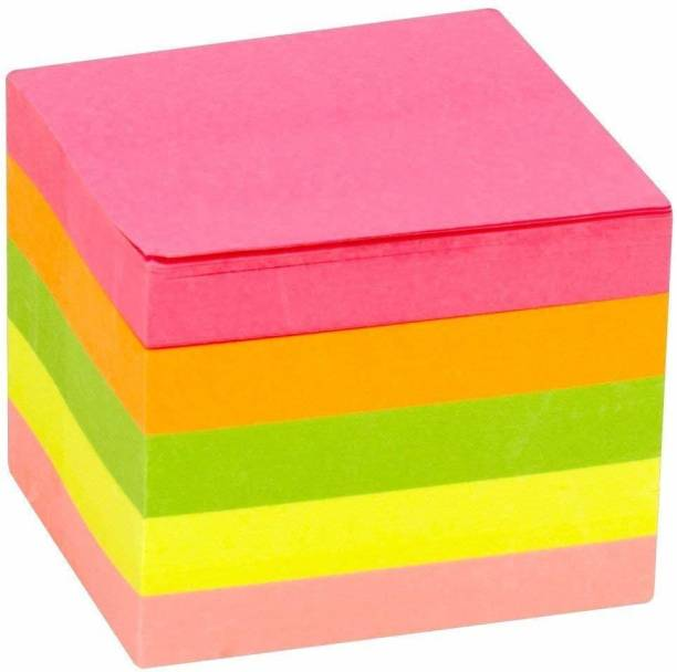 Excel Multicolor 100 Sheets Note Memo Pad 500 Sheets, 5 Colors