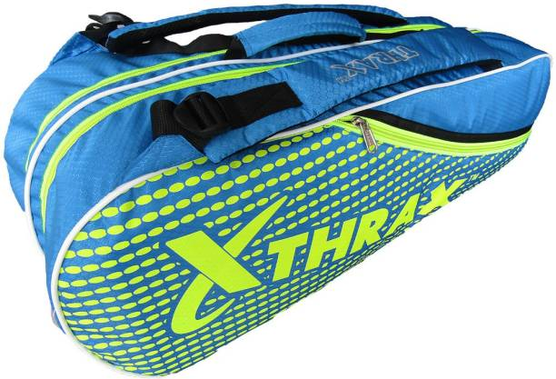 Thrax JX 01 Badminton Kit Bags Sky Blue and Lime