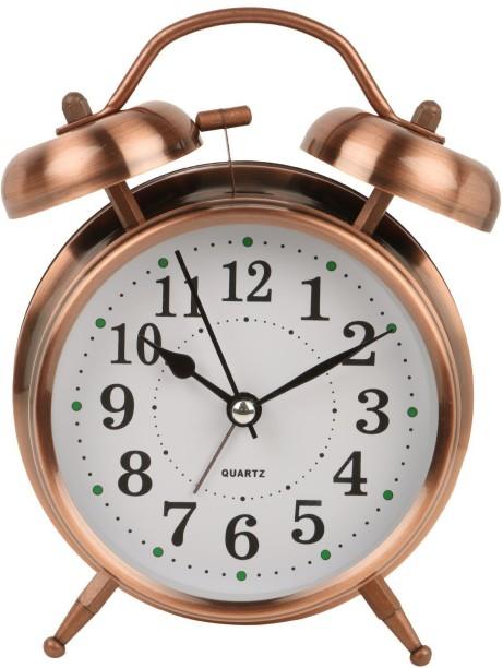 4 Inch Pro Table Clock Ultra-quiet Metal Small Alarm Clock Classic Retro Style S
