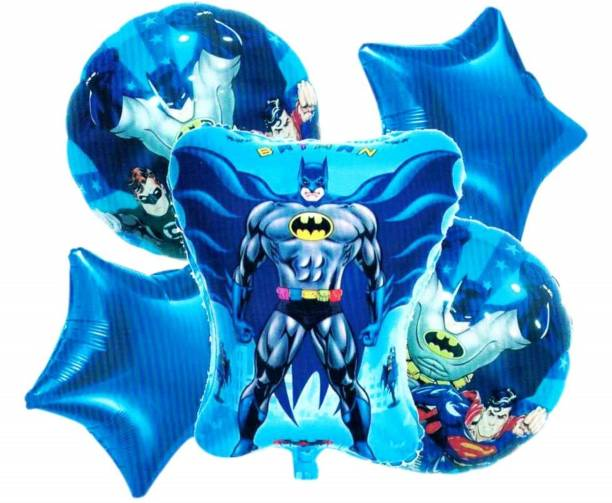 "AARK PLANET Printed Batman Superhero"" Theme foil Balloons ( Set of 5 ) Balloon"