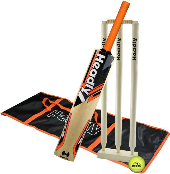 Headly Warrior Short Handle Tennis Play Kashmiri Willow Bat Cricket Kit