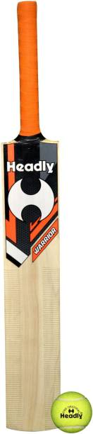 Headly Cricket Bat (Short Handle) with Light Yellow Cricket Tennis Ball Cricket Kit