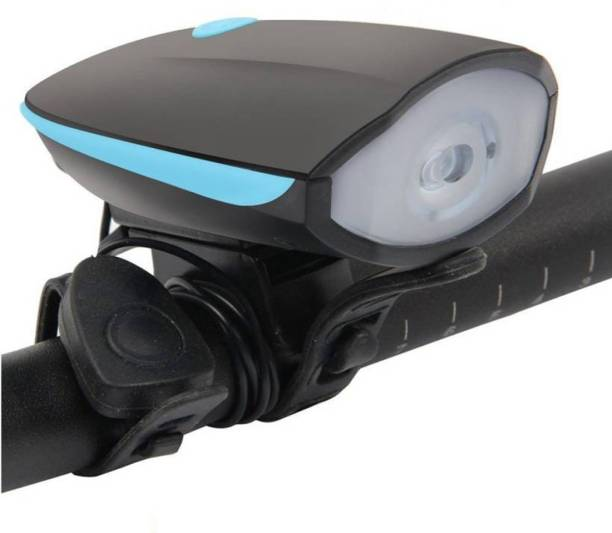 SHIVEXIM USB Rechargeable Bike Horn And Light 140 DB with Super Bright 250 Lumen Light 3 Modes Bell LED Spot Light