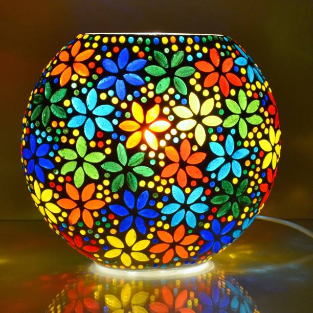 Decent Glass Night Lamps for Bedroom with Plug Purse Shape Mosaic Glass Table Lamp Handicraft lamp for Your Bedroom Table Lamp