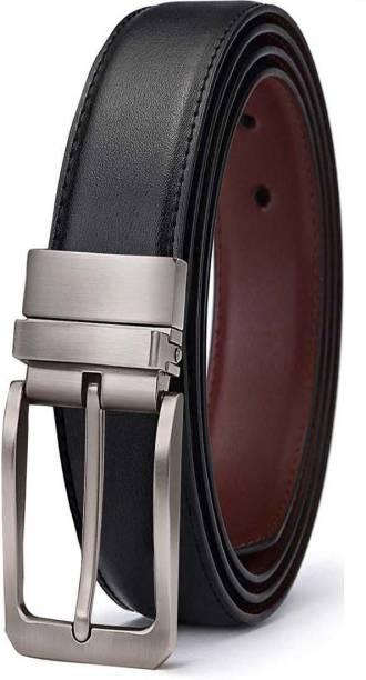 d752cca8db Variety & Capture Men Casual Black Artificial Leather Reversible Belt