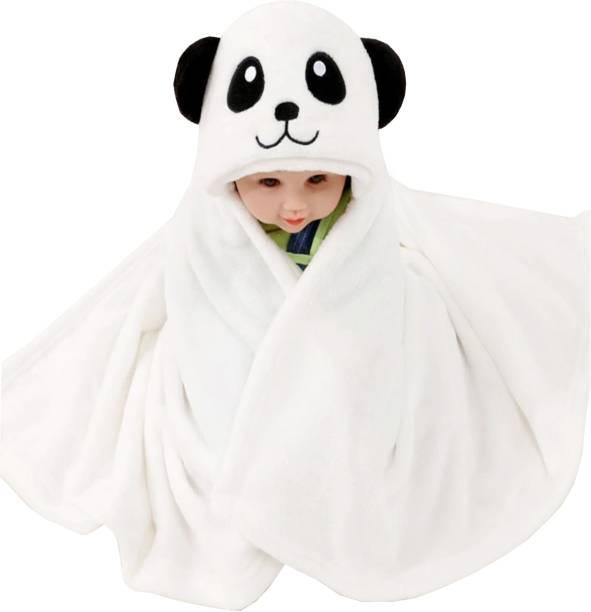 Miss & Chief Animal Crib Hooded Baby Blanket