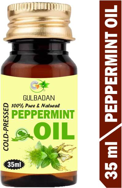 GULBADAN Peppermint Essential Oil (35ML) 100% Pure Natural & Therapeutic Grade For Aromatherapy Hair Oil