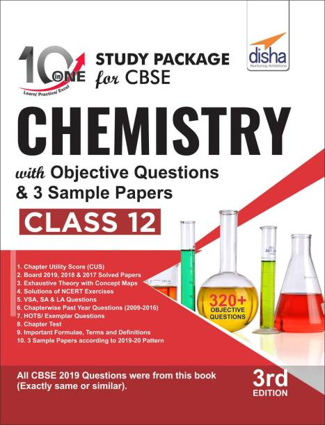 10 in One Study Package for CBSE Chemistry Class 12 with Objective Questions & 3 Sample Papers 3rd Edition