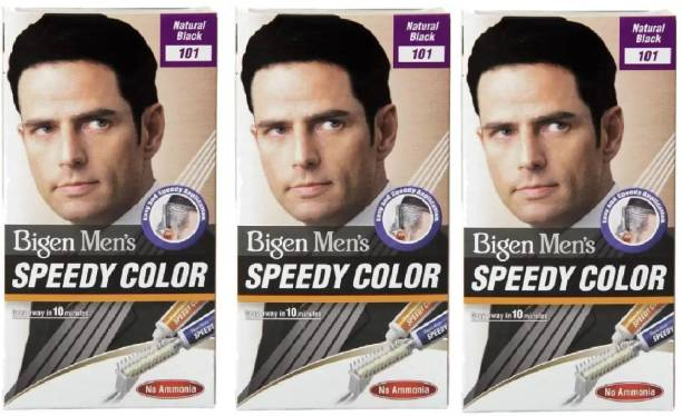 Bigen Men's Speedy Color (Natural Black) , Black