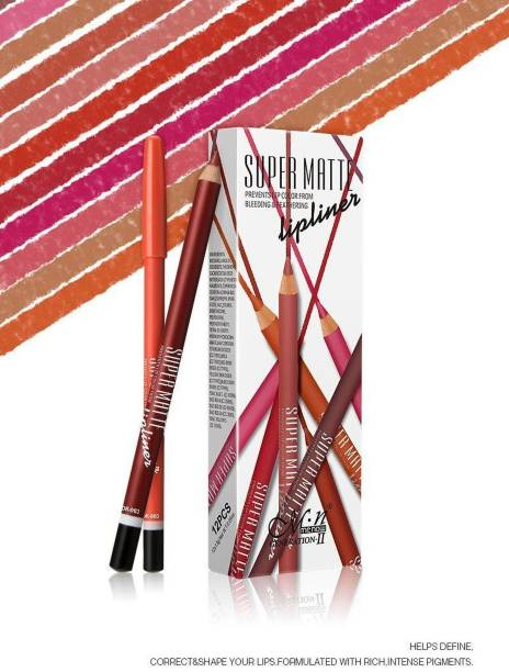 Menow blushia Super Matte Pencil (Set of 12)
