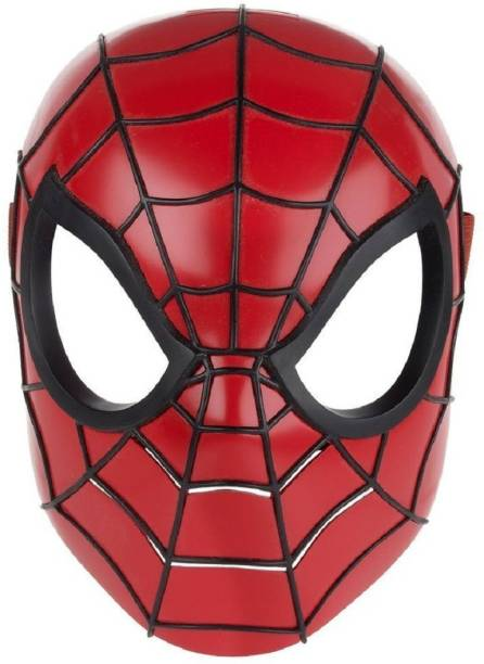 Charismacart Plastic Spiderman Mask with LED Light (Multicolour) Pack of 1 Party Mask