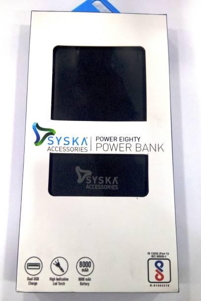 Syska 8000 mAh Power Bank