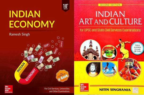 COMBO Indian Economy By Ramsh Singh 10th Edition And Indian Art And Culture - For Civil Services Preliminary And Main Examinations (English, Paperback, Nitin Singhania)