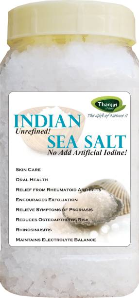 THANJAI NATURAL Indian Non Iodised Sea Salt 1KG in Jar Sea Salt