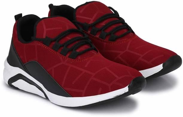 Footrelief 1101 Maroon Running Shoes For Men Sneakers For Men