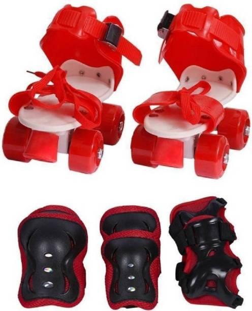 mayank & company skate with the k Quad Roller Skates - Size 4--8 UK (Red) Skates & Skateboard