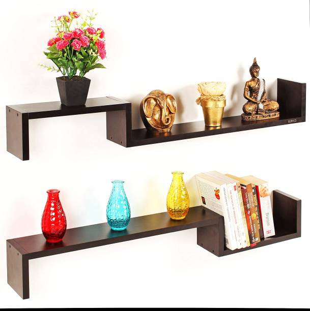 BLUEWUD Riley Engineered Wood Open Book Shelf