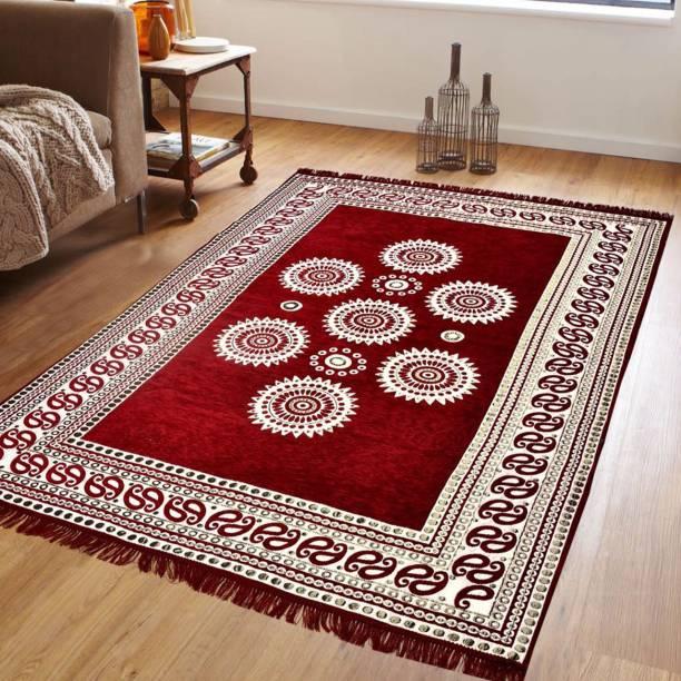 PURAV light Multicolor Velvet Carpet