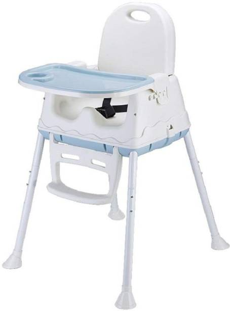 SYGA High Chair for Baby Kids, Safety Toddler Feeding Booster Seat Dining Table Chair (Blue)