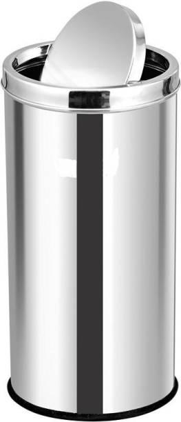 Mofna Stainless Steel Swing Dust Bin, Garbage Bin 7L Stainless Steel, Plastic Dustbin