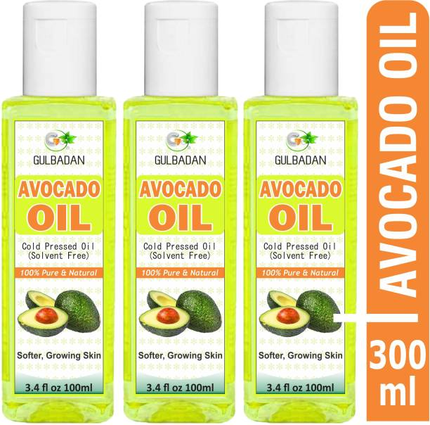 GULBADAN Pure Cold Pressed Avocado oil (Pack of 3) Hair Oil