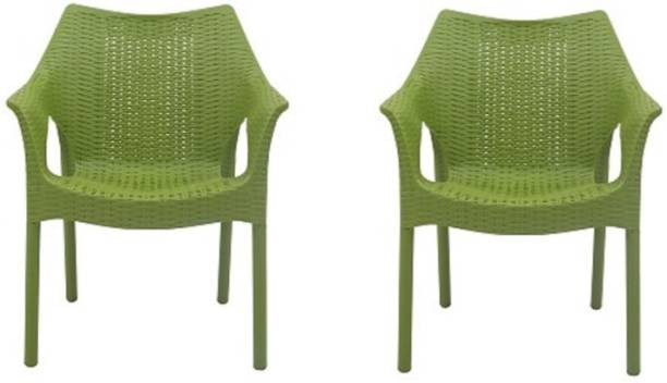 Supreme Cambridge Set of 2 Chairs, Mehendi Green Plastic Cafeteria Chair