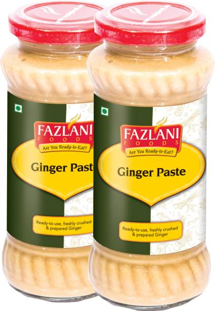 FAZLANI FOODS Ready to Use Ginger Paste (Pack of 2, 300gm each)