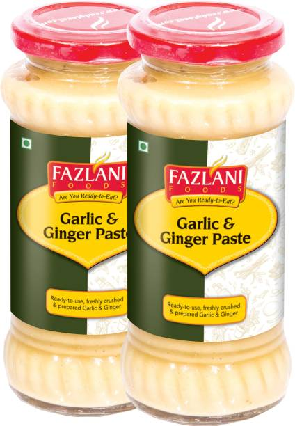 FAZLANI FOODS Ready to Use Garlic & Ginger Paste (Pack of 2, 300gm each)