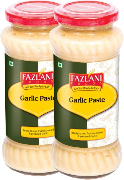 FAZLANI FOODS Ready to Use Garlic Paste (Pack of 2, 300gm each)