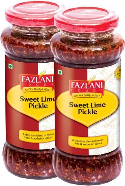 FAZLANI FOODS Ready to Eat Sweet Lime Pickle (Pack of 2, 350gm each) Lemon Pickle