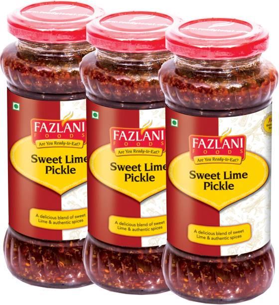 FAZLANI FOODS Ready to Eat Sweet Lime Pickle (Pack of 3, 350gm each) Lemon Pickle
