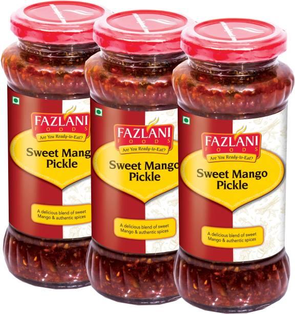 FAZLANI FOODS Ready to Eat Sweet Mango Pickle (Pack of 3, 350gm each) Mango Pickle