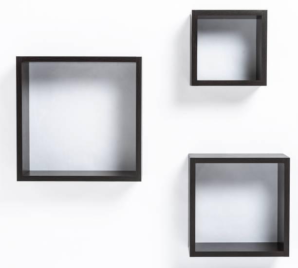BLUEWUD MDF (Medium Density Fiber), Brass Wall Shelf
