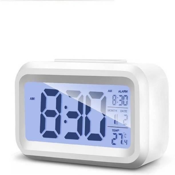 Kadio Digital White Clock