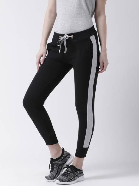 THE DRY STATE Solid Women Black Track Pants