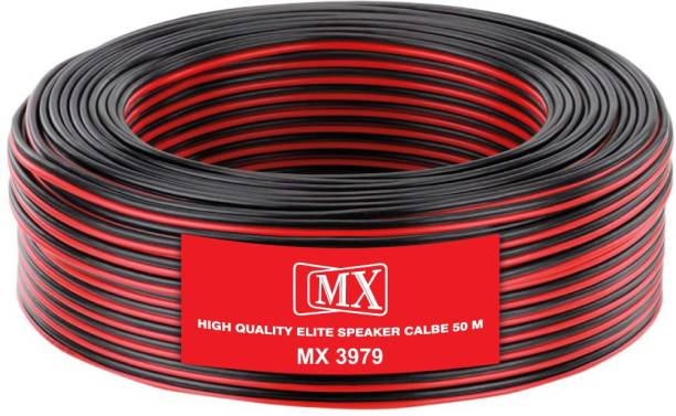 MX  TV-out Cable 50 Meter -165 Feet Flexible Oxygen-Free Red Black Speaker Wire Cable