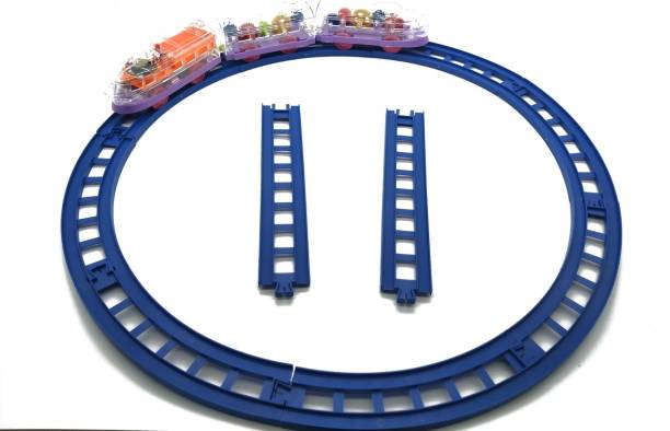 Luxula 13pcs Transparent Train and Track Set for Children (Min. Age 3 years)