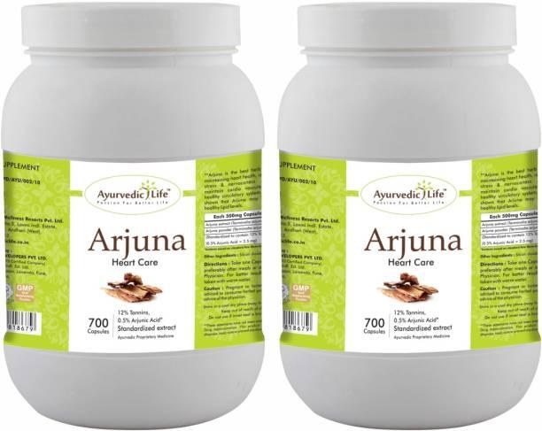Ayurvedic Life Arjuna 700 Capsules Value Pack of 2