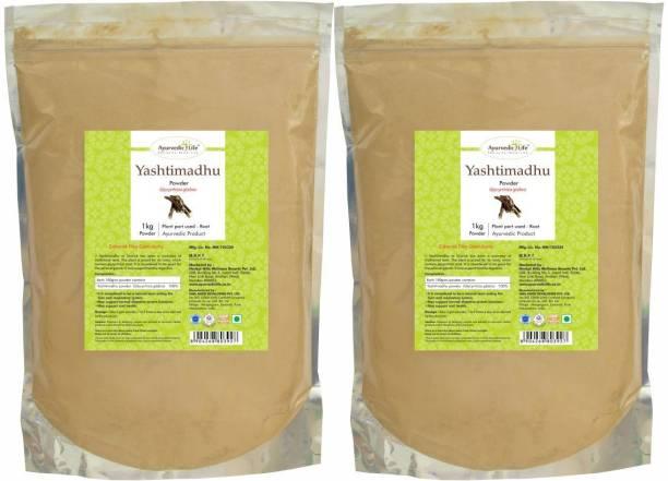 Ayurvedic Life Yashtimadhu Powder - 1 kg Value Pack of 2