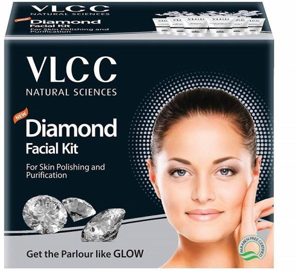 VLCC New Diamond Facial Kit for skin polishing and purification 50g+10ml pack of 6